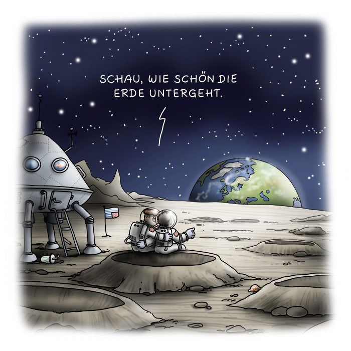 Cartoon Mondlandung