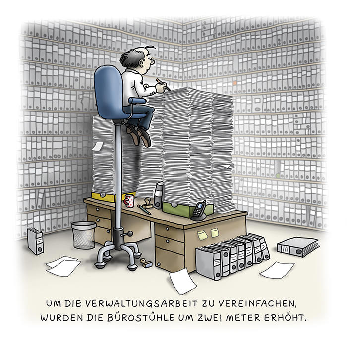 Cartoon Bürokratie