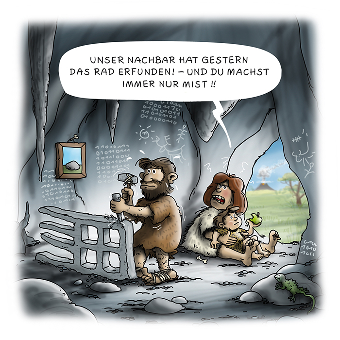 Cartoon Steinzeit